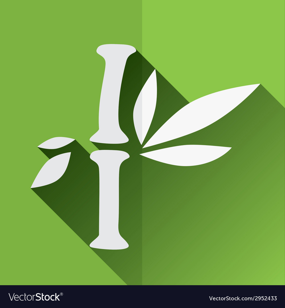 Bamboo flat icon vector | Price: 1 Credit (USD $1)