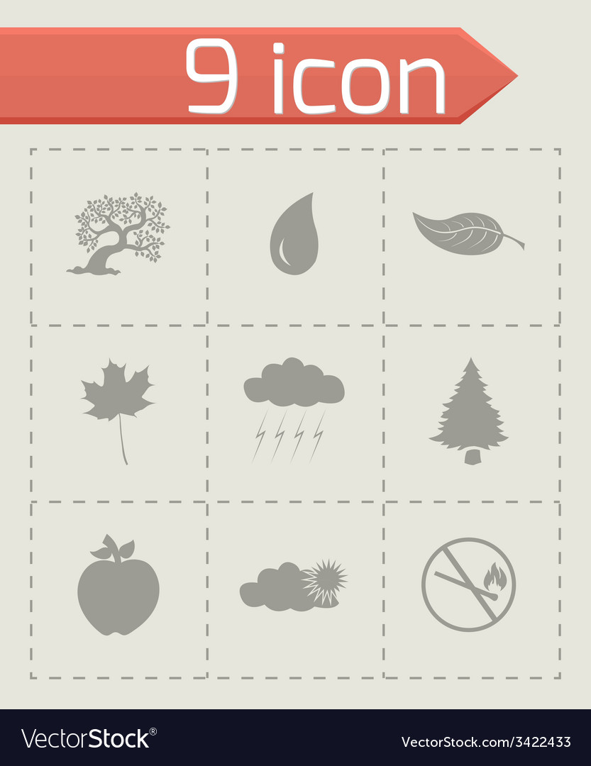 Black eco icons set vector | Price: 1 Credit (USD $1)