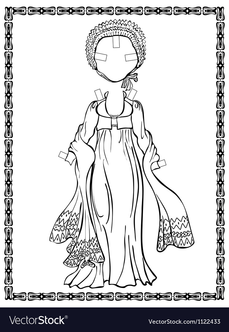 Empire style dress vector | Price: 1 Credit (USD $1)