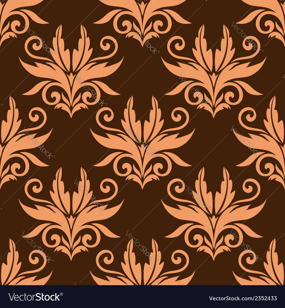 Floral seamless pattern background vector | Price: 1 Credit (USD $1)