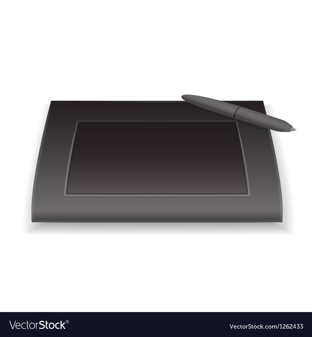 Graphic tablet vector | Price: 1 Credit (USD $1)
