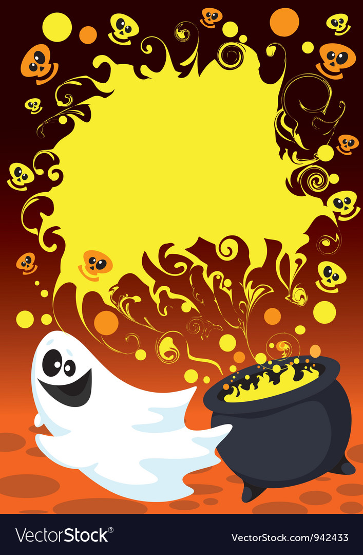 Halloween ghost card vector | Price: 1 Credit (USD $1)