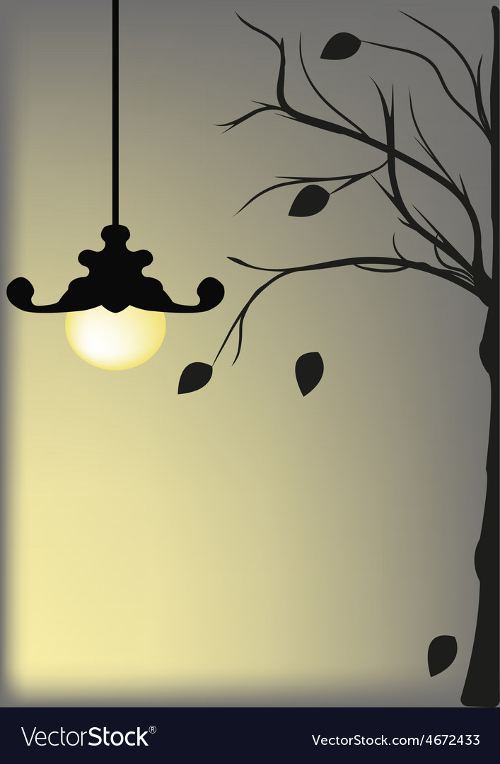 Lamp agsinst a night sky vector | Price: 1 Credit (USD $1)