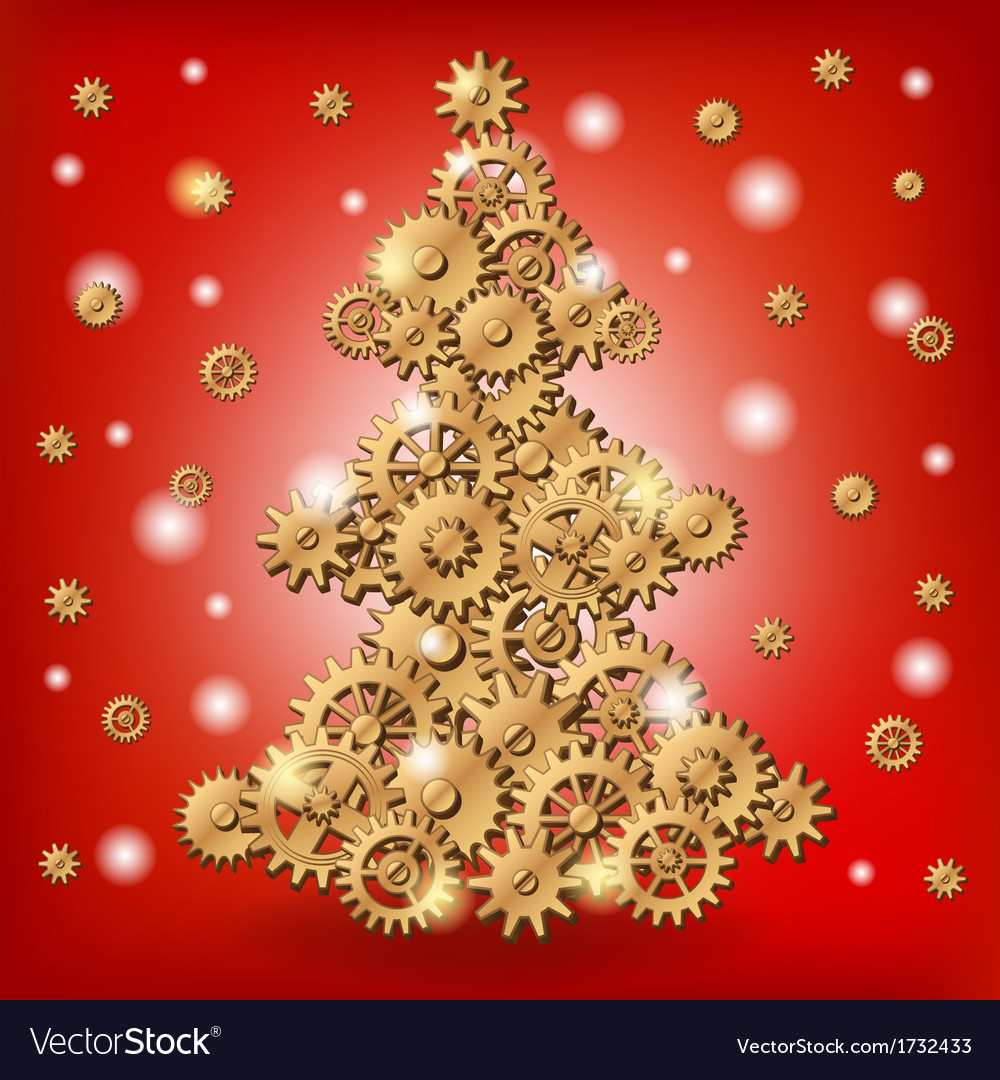 Mechanical christmas tree vector | Price: 1 Credit (USD $1)
