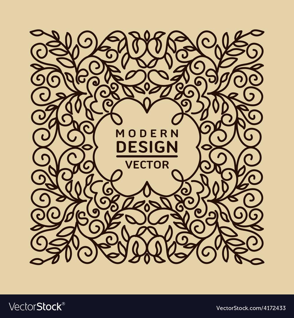 Monogram design element vector   Price: 1 Credit (USD $1)