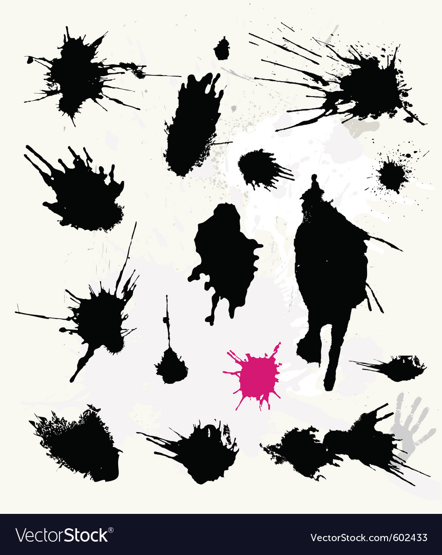 Set of ink splats vector | Price: 1 Credit (USD $1)