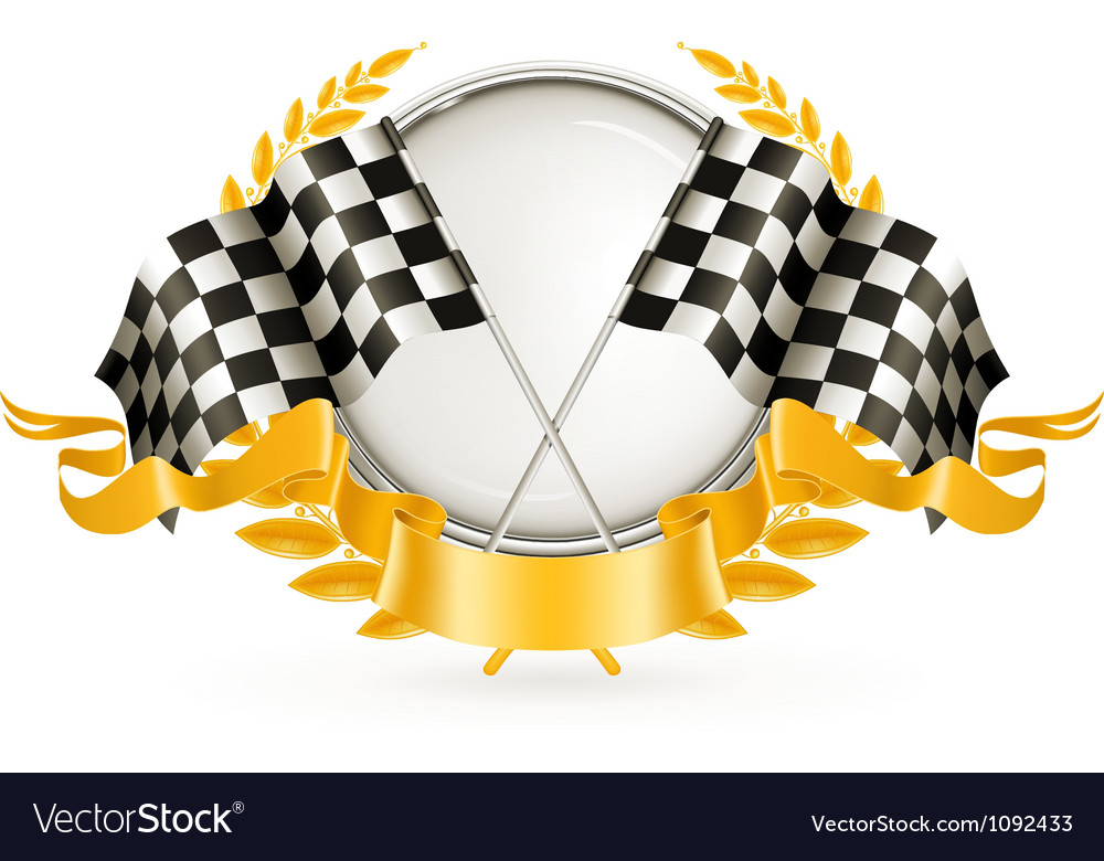 Silver racing emblem vector | Price: 1 Credit (USD $1)