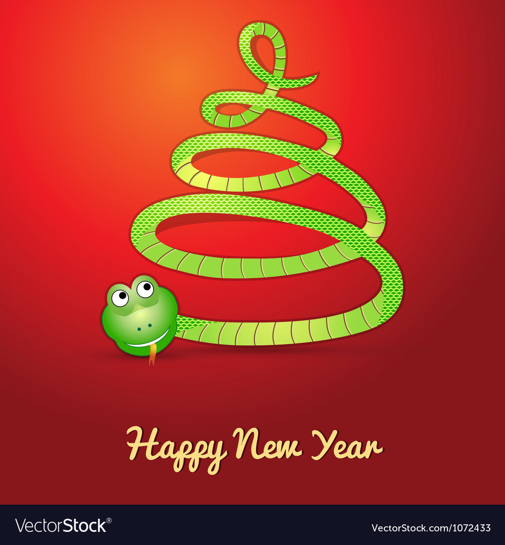 Snake in shape of a christmas tree vector | Price: 1 Credit (USD $1)