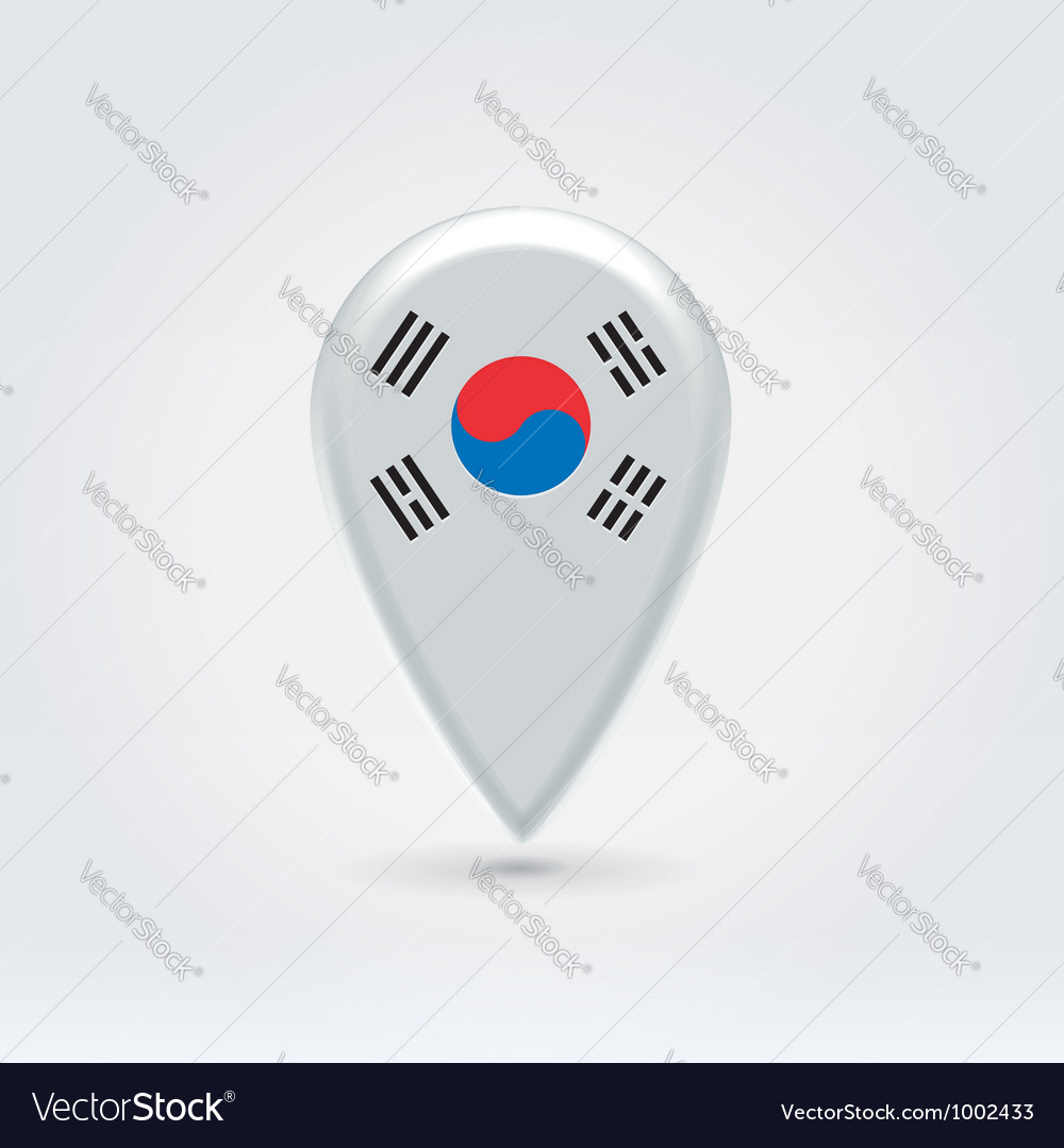 South korean icon point for map vector | Price: 1 Credit (USD $1)