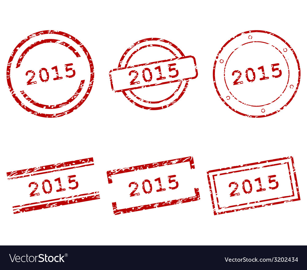 2015 stamps vector | Price: 1 Credit (USD $1)