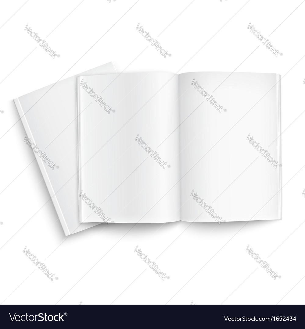 Couple of blank magazines template vector   Price: 1 Credit (USD $1)