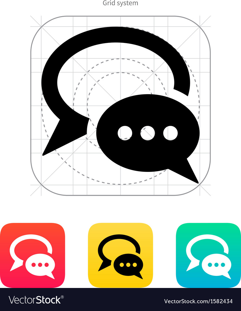 Dialogue bubble icon vector | Price: 1 Credit (USD $1)