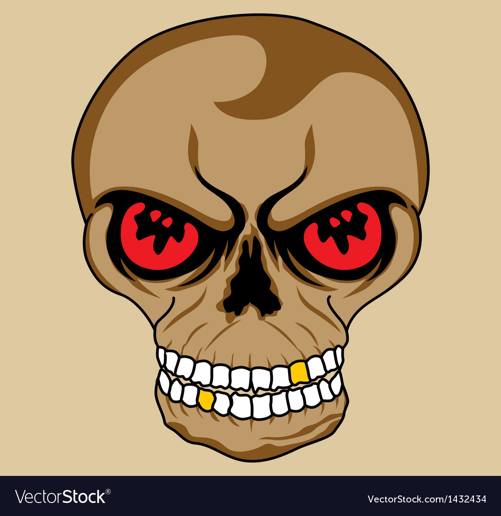Isolate skull vector | Price: 1 Credit (USD $1)