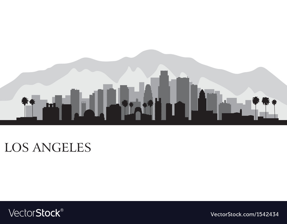 Los angeles city skyline detailed silhouette vector | Price: 1 Credit (USD $1)