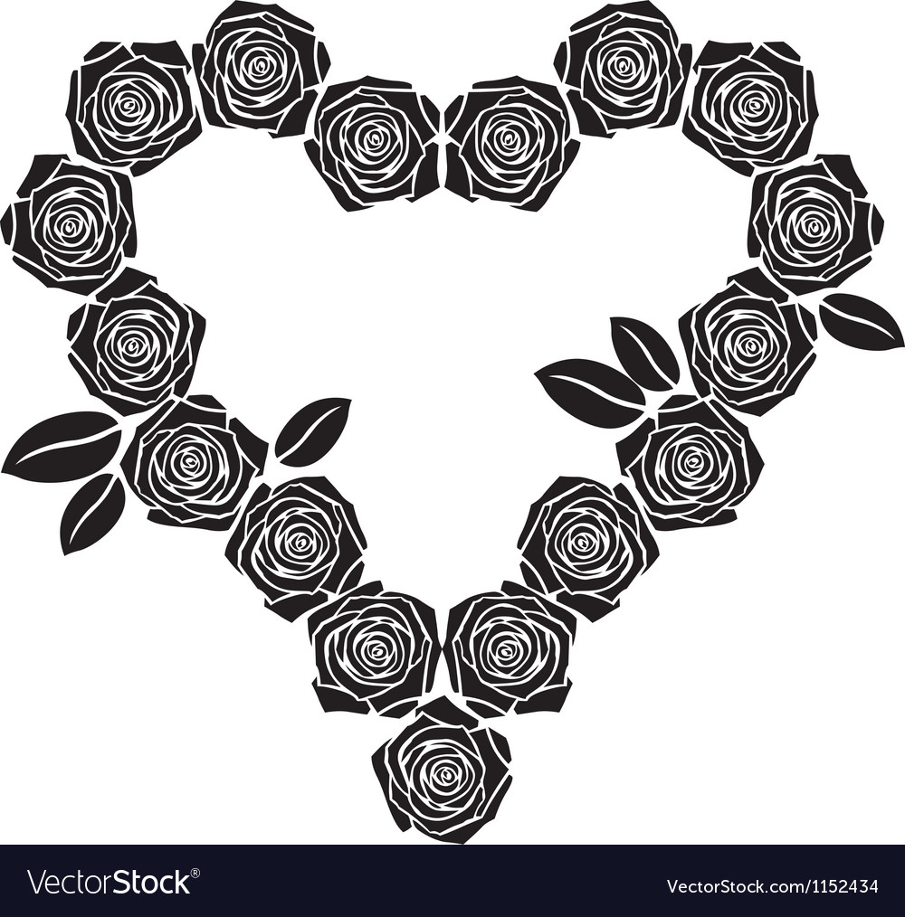Rose heart vector   Price: 1 Credit (USD $1)