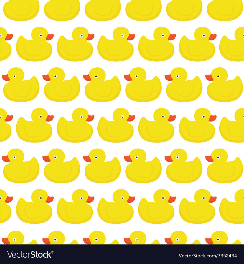 Rubber duck white pattern vector | Price: 1 Credit (USD $1)