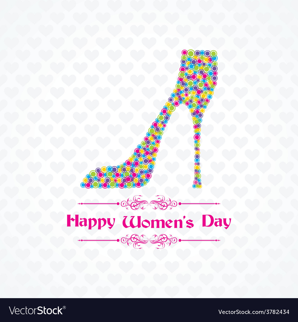 Womens day greeting card design vector | Price: 1 Credit (USD $1)