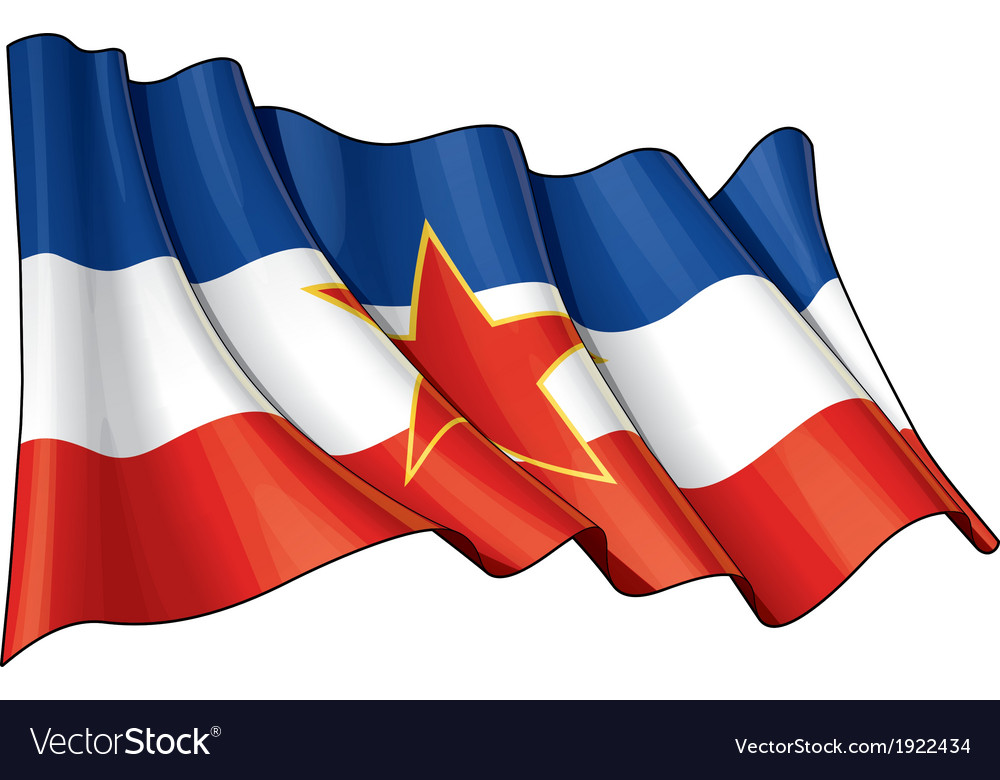 Yugoslavian flag vector | Price: 1 Credit (USD $1)