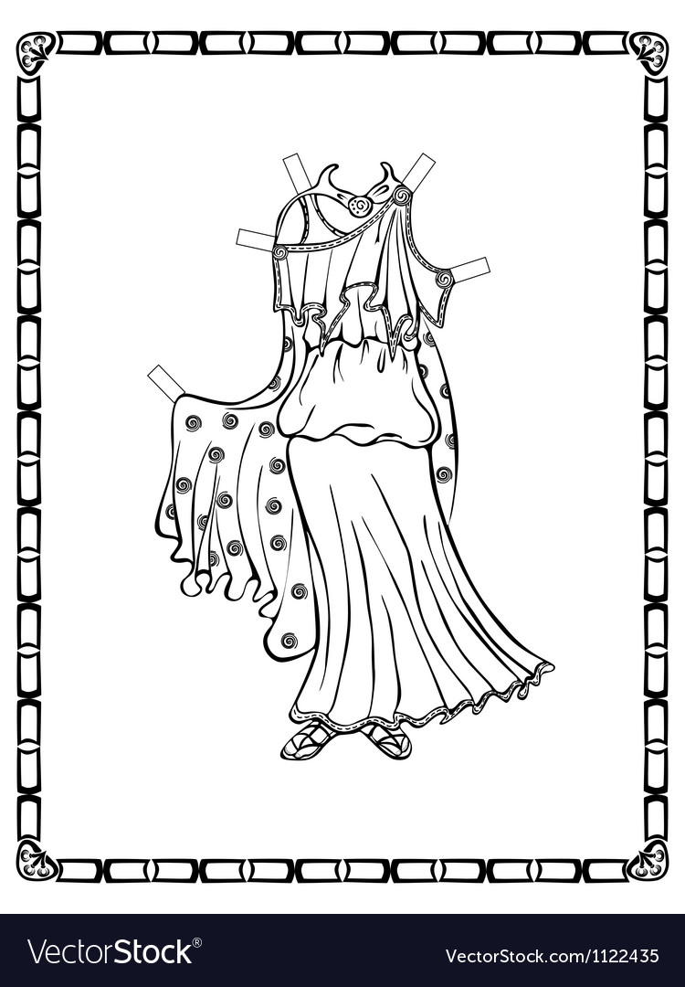 Ancient greek costume vector | Price: 1 Credit (USD $1)