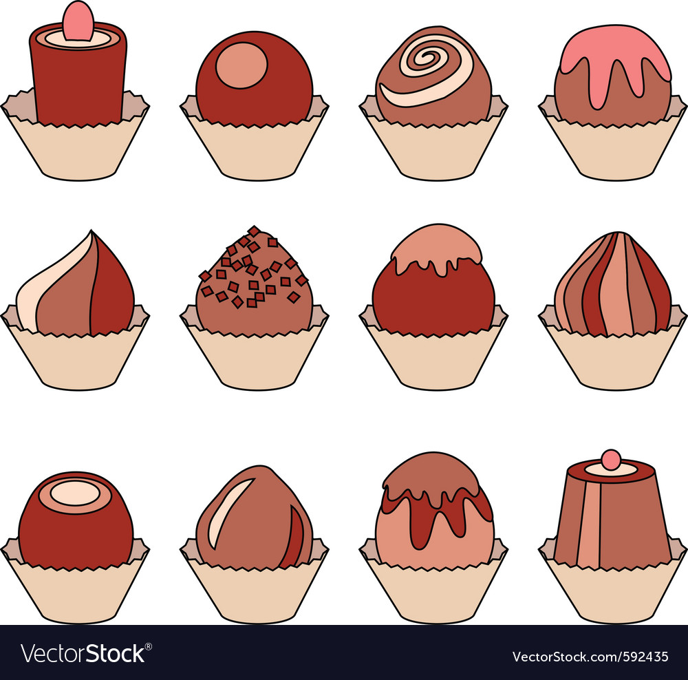 Collection of different sweets vector | Price: 1 Credit (USD $1)