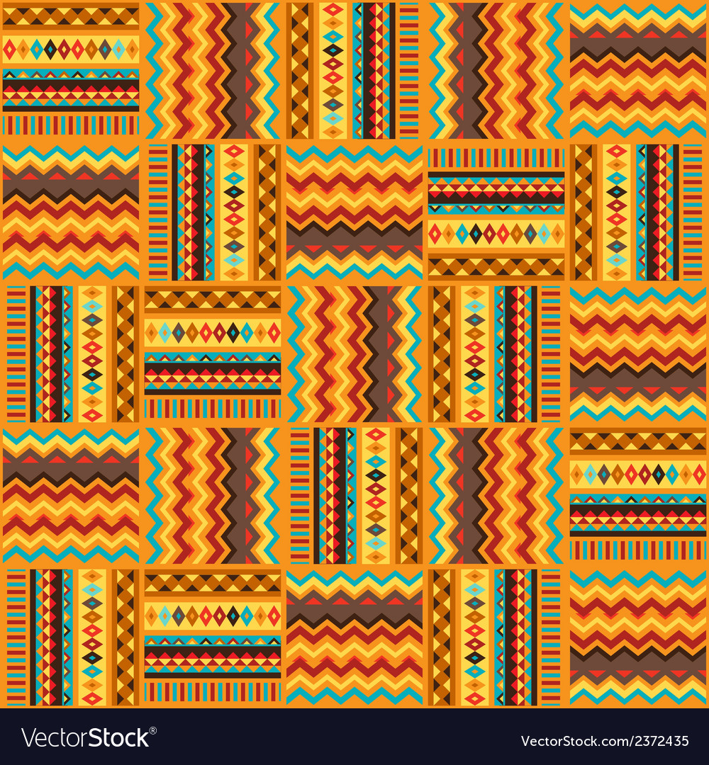 Ethnic ornament abstract geometric seamless fabric vector | Price: 1 Credit (USD $1)