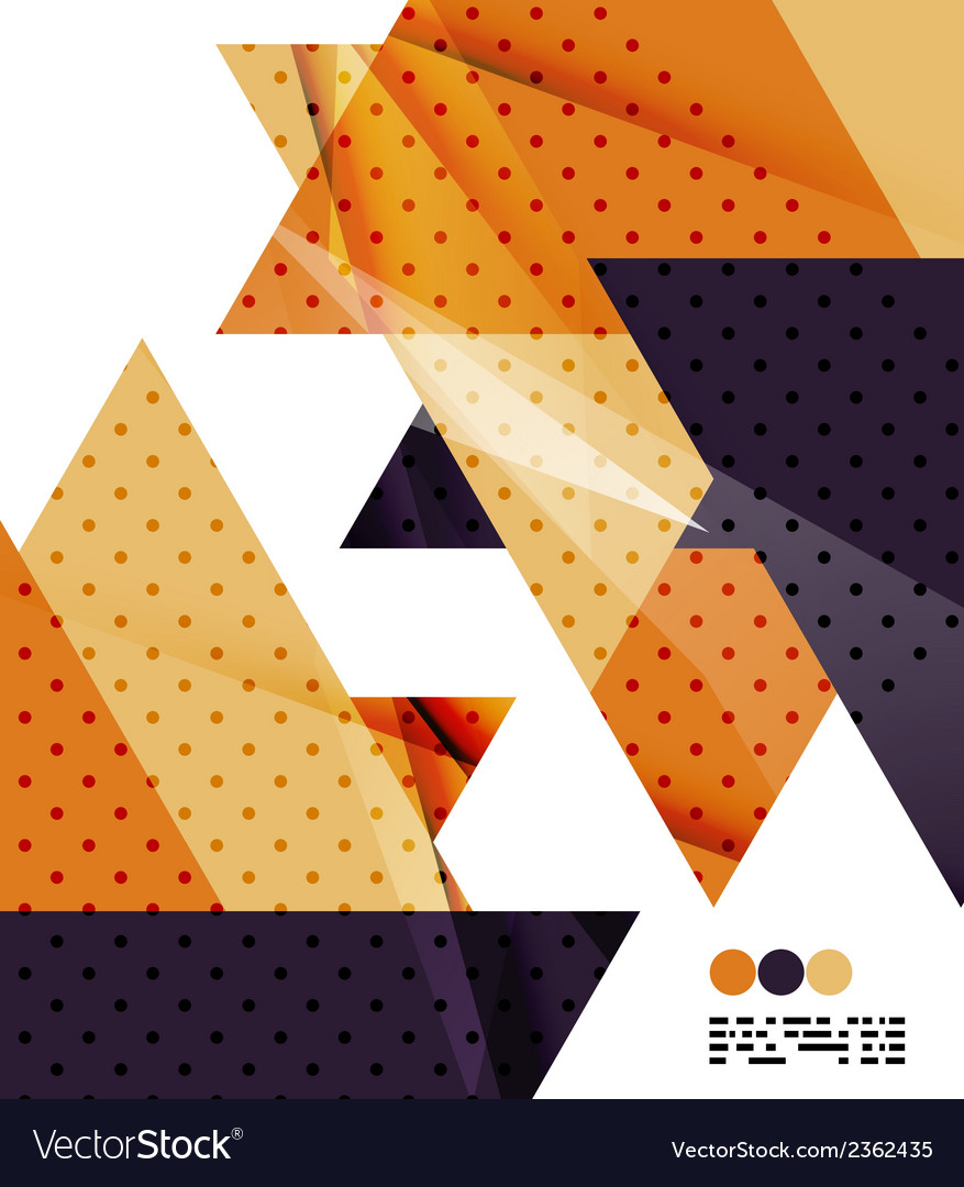 Modern geometrical abstract template on white vector | Price: 1 Credit (USD $1)