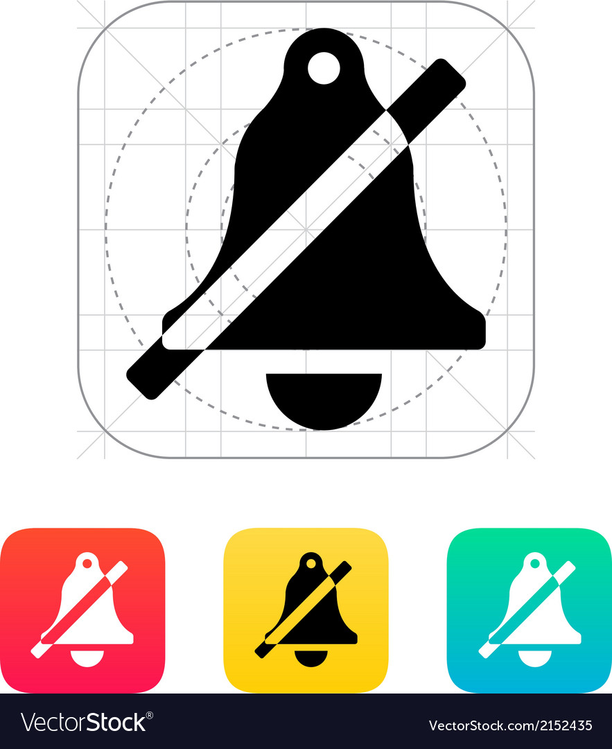 No bell icon vector   Price: 1 Credit (USD $1)