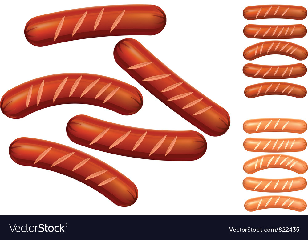 Sausage vector | Price: 3 Credit (USD $3)