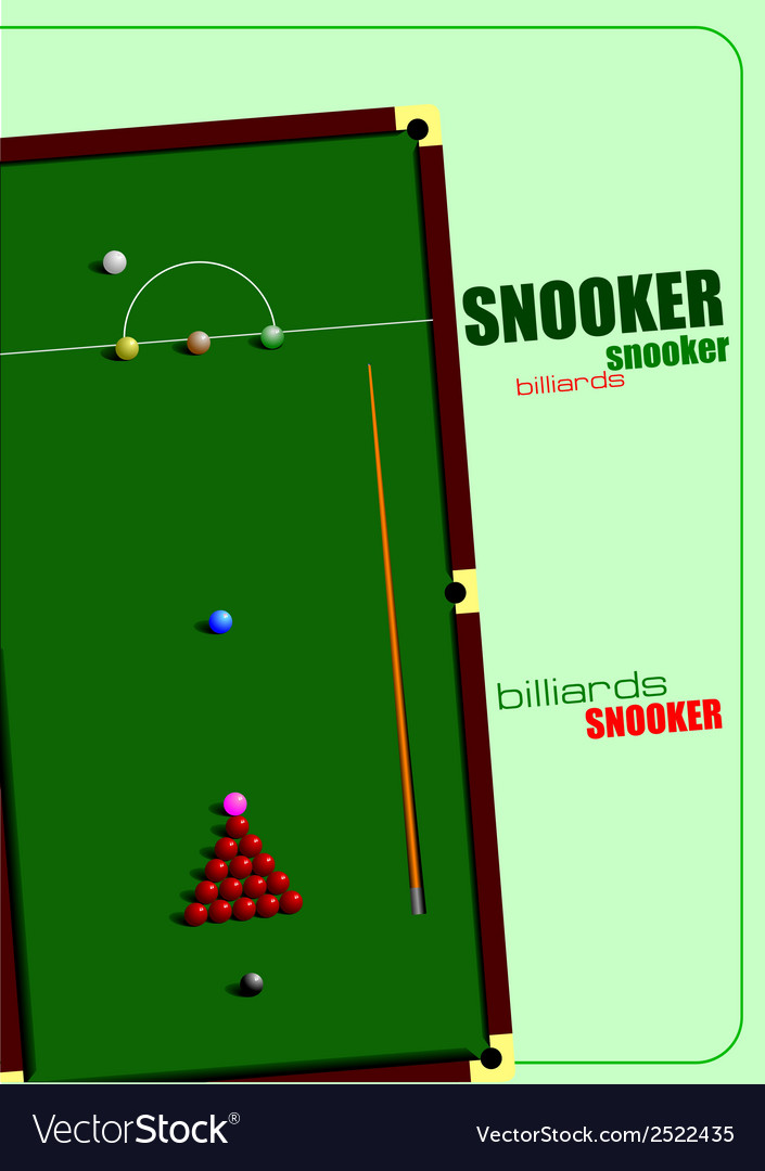 Snooker table vector   Price: 1 Credit (USD $1)
