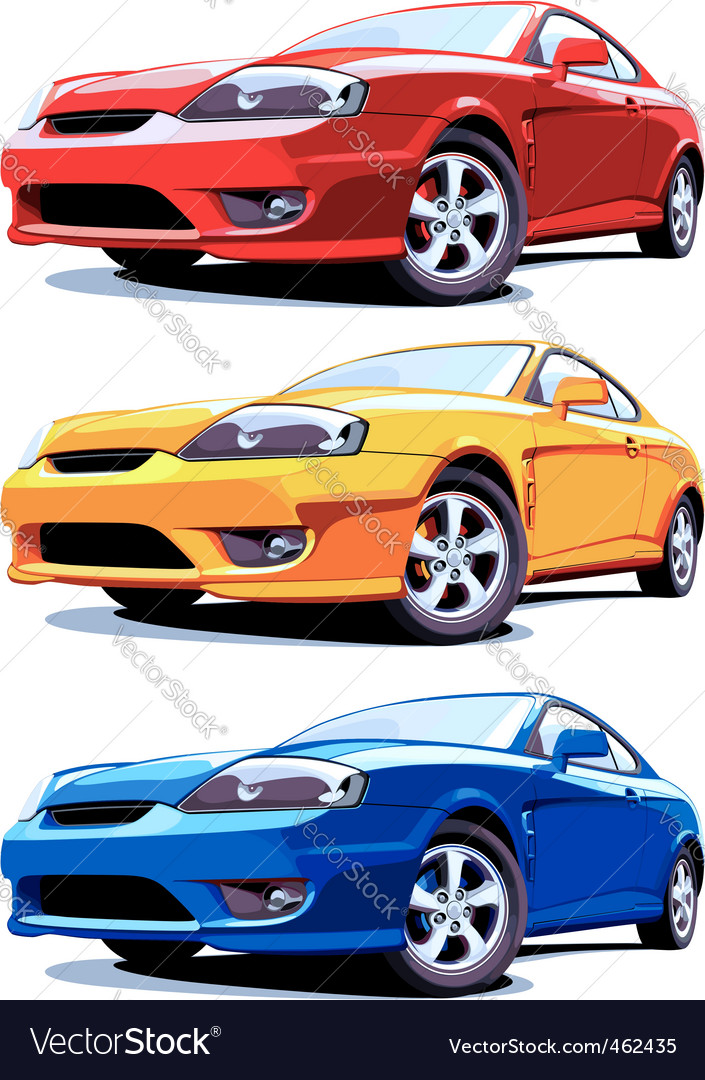 Sports cars vector | Price: 3 Credit (USD $3)
