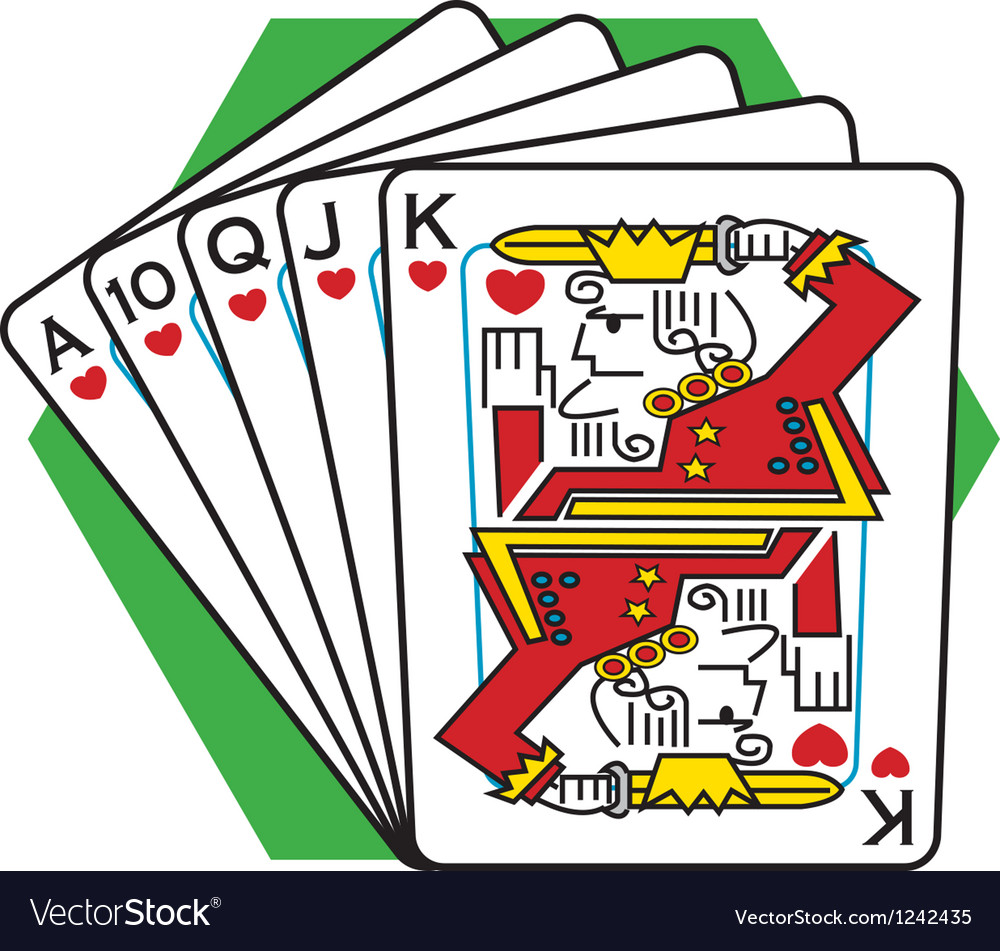 Straight flush card game vector | Price: 1 Credit (USD $1)