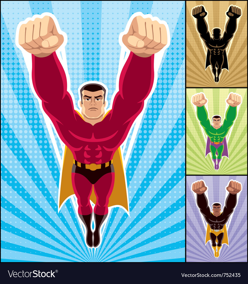 Superhero flying vector | Price: 3 Credit (USD $3)
