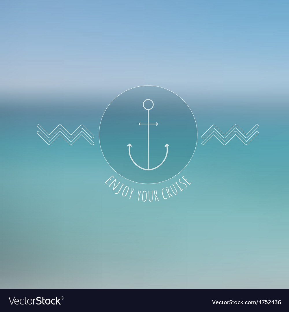 Abstract blurred background thin nautical logo vector | Price: 1 Credit (USD $1)