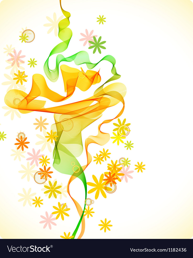 Abstract floral background with wave vector | Price: 1 Credit (USD $1)