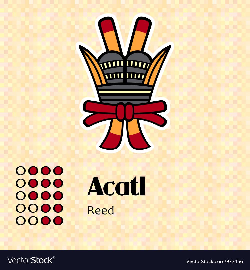 Aztec symbol acatl vector | Price: 1 Credit (USD $1)
