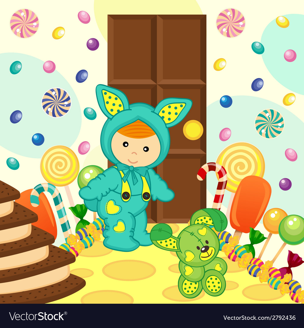 Baby boy rabbit sweet food vector | Price: 1 Credit (USD $1)