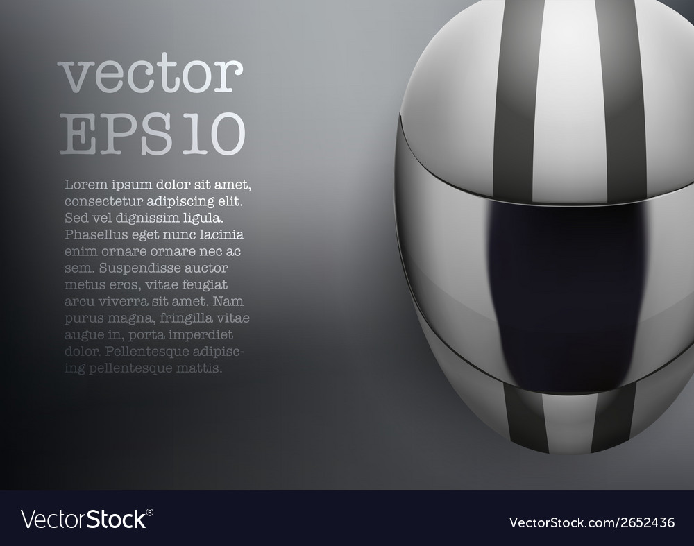 Background of white motorcycle helmet with strip vector | Price: 1 Credit (USD $1)