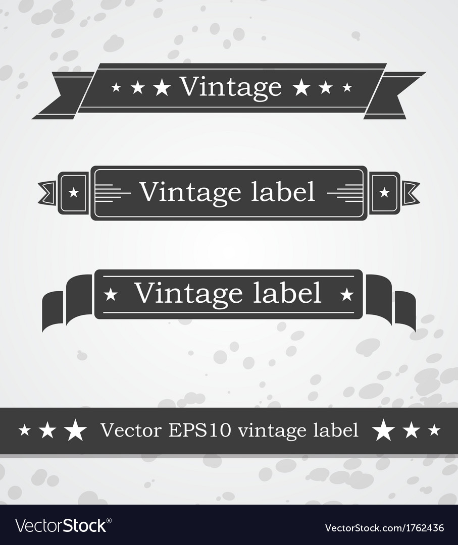 Black ribbons with retro vintage styled design vector | Price: 1 Credit (USD $1)