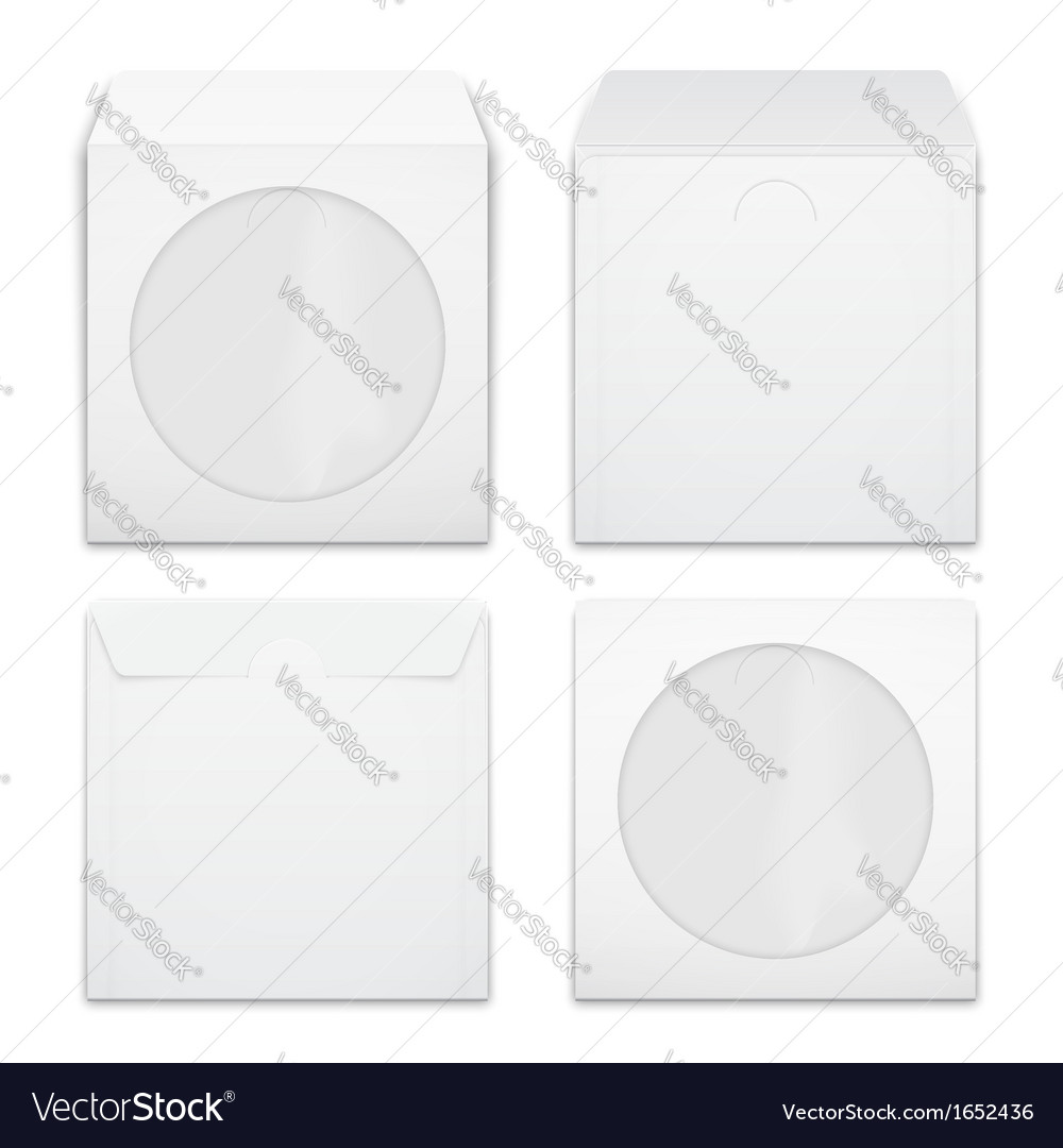 Blank compact disc envelopes vector | Price: 1 Credit (USD $1)