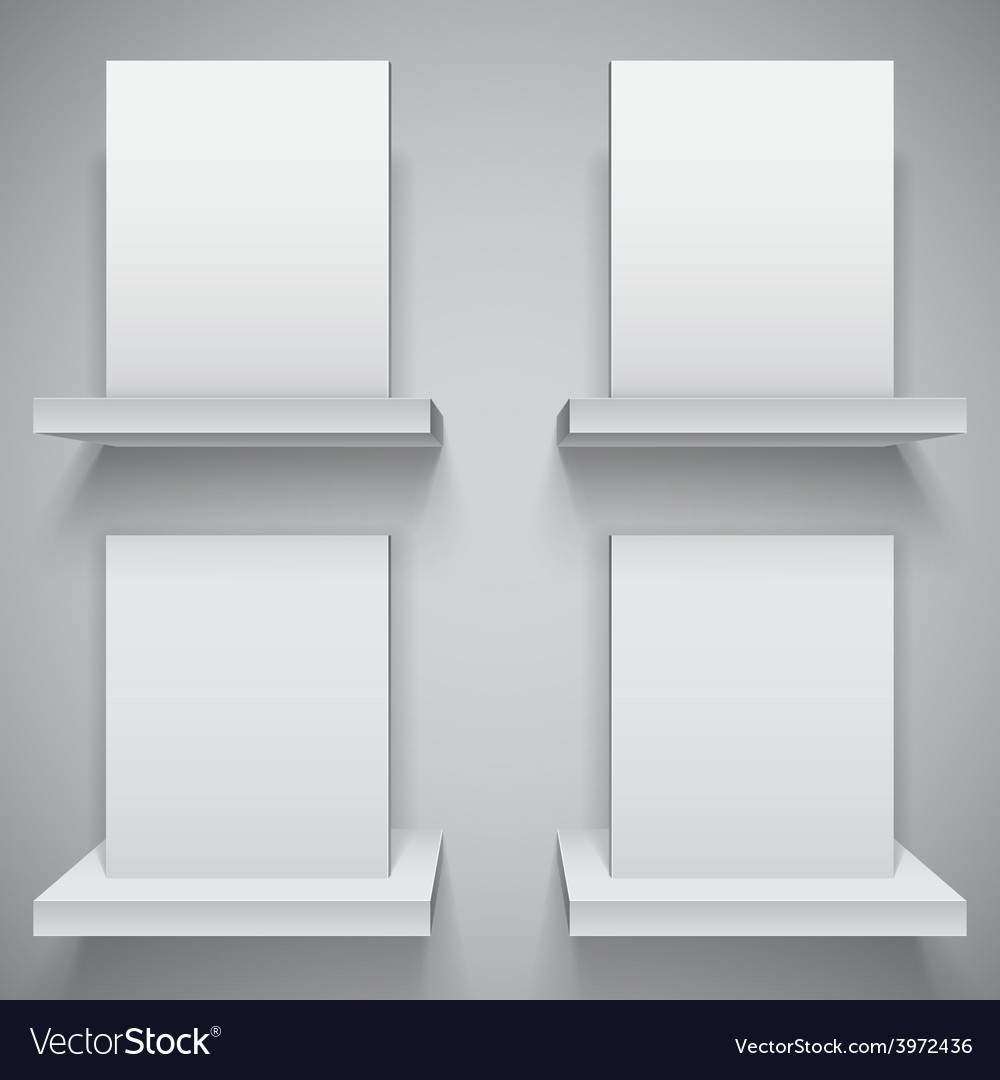 Blank white boxes vector | Price: 1 Credit (USD $1)