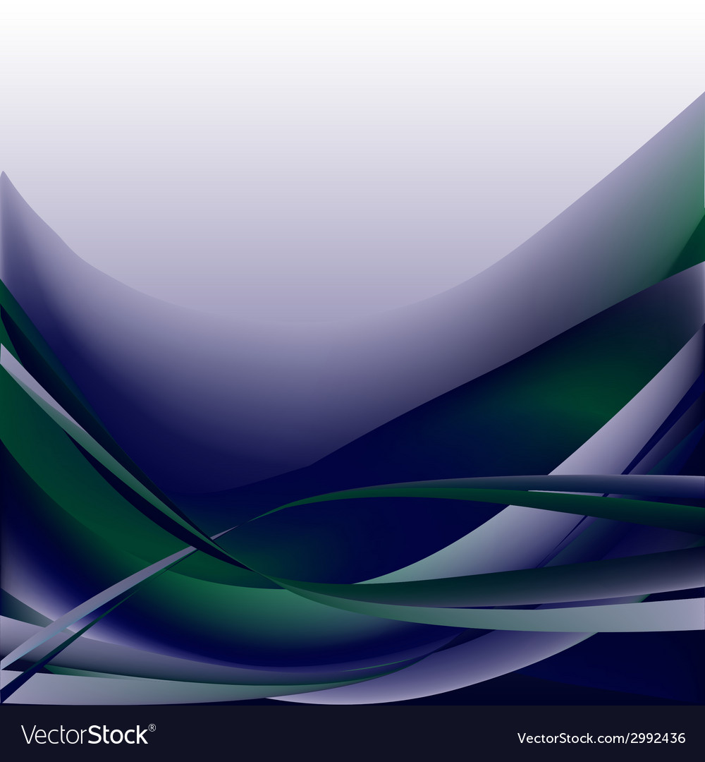 Colorful waves isolated abstract background blue d vector | Price: 1 Credit (USD $1)