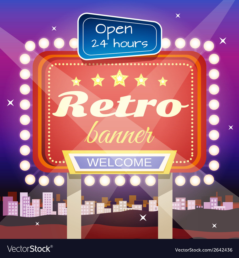 Retro banner vector | Price: 1 Credit (USD $1)