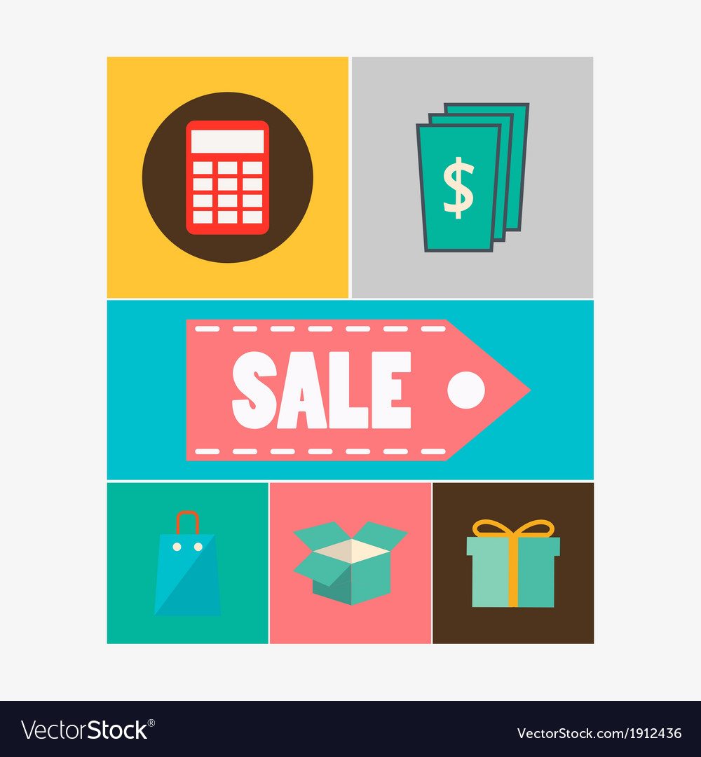 Sale icons vector | Price: 1 Credit (USD $1)