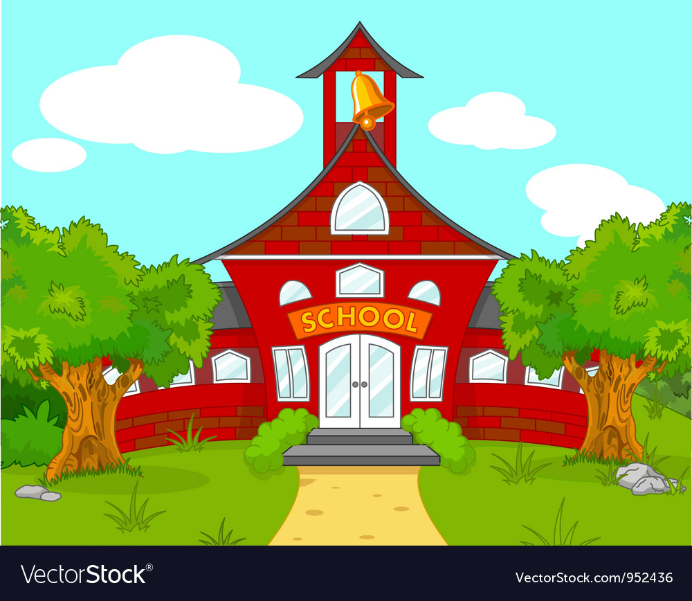 School landscape vector | Price: 3 Credit (USD $3)