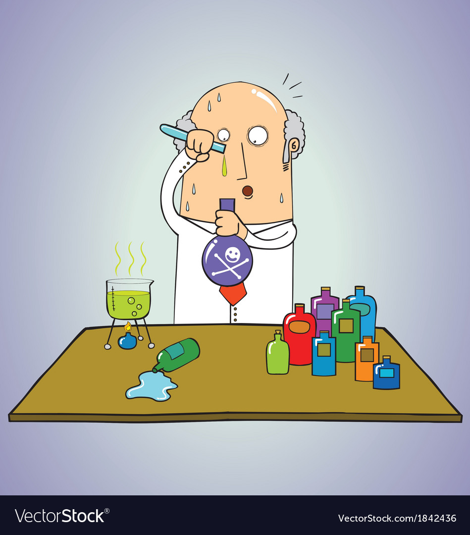 Scientist mixing vector | Price: 1 Credit (USD $1)