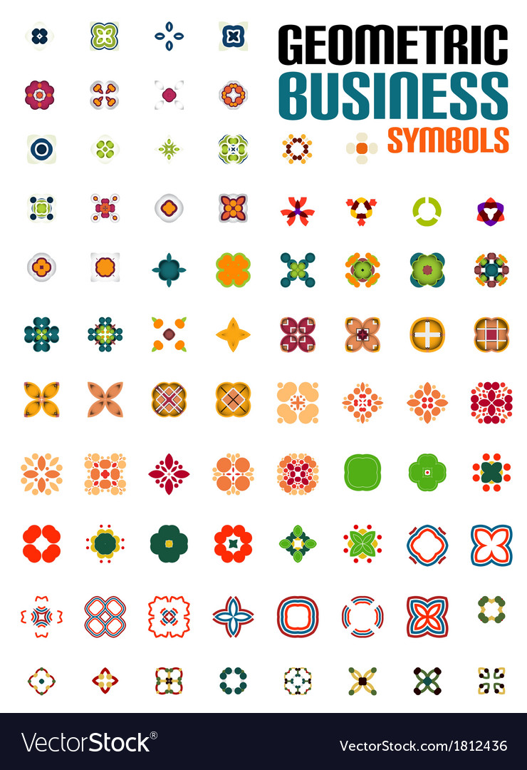 Set of colorful editable business symbols vector | Price: 1 Credit (USD $1)