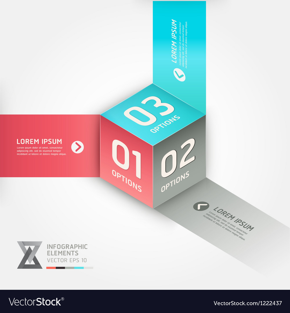 Abstract box infographics options banner vector | Price: 1 Credit (USD $1)