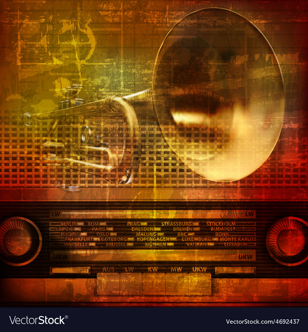 Abstract grunge sound background with trumpet and vector | Price: 3 Credit (USD $3)