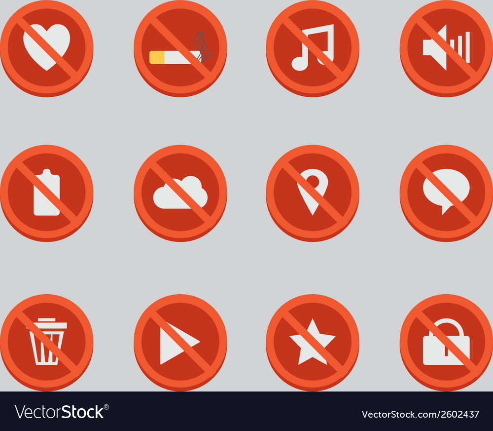 Block sign icons vector   Price: 1 Credit (USD $1)