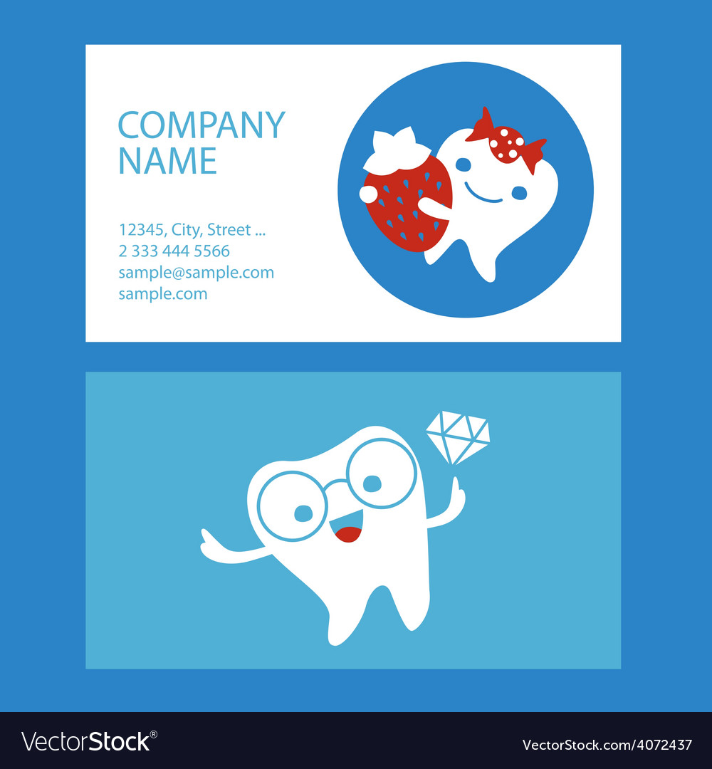 Corporate design with dental characters vector | Price: 1 Credit (USD $1)